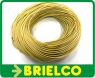 CABLE CONEXION SILICONA PARA ALTA TEMPERATURA 1MM SECCION 2MM DIAMETRO FUNDA AMARILLO -