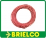 CABLE CONEXION SILICONA PARA ALTA TEMPERATURA 0.5MM SECCION 2MM DIAMETRO FUNDA ROJA -