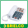 TELEFONO FIJO SOBREMESA PARED TECLAS GRANDES RELLAMADA MEMORIA BLANCO BD5359 -