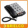 TELEFONO FIJO SOBREMESA PARED TECLAS GRANDES NEGRO RELLAMAD MEMORIA NEGRO BD5322 -