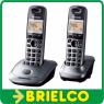 TELEFONOS INALAMBRICOS DUO PANASONIC KX-TG2512 GRIS RECARGABLES DIGITAL BD5221 -