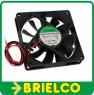 VENTILADOR TERMOPLAST TERMOPLASTICO 12VDC 1.96W 80X80X15MM 3000 ROTAC/MIN 2 CABLES BD11389 -