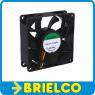 VENTILADOR TERMOPLASTICO 12VDC 2.6W 80X80X25MM 3300 ROTAC/MIN 3 CABLES BD11383 -