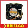 VENTILADOR TERMOPLASTICO 12VDC 4.44W 80X80X32MM 4400 ROTAC/MIN 3 CABLES BD11777 -