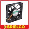 VENTILADOR TERMOPLASTICO 12VDC 80X80X15MM 3 CABLES 3000 ROTACIONES/MIN BD11347 -
