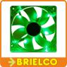 VENTILADOR TERMOPLASTICO CON LUZ LED VERDE 12VDC 2.8W 80X80X25MM 3000RPM BD3791 -