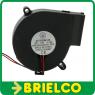 VENTILADOR TIPO TURBINA 12VDC 0.18A 75X33MM PORTATIL CONEC MOLEX 2 PINES BD11774 -