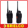 WALKIE TALKIE PAREJA BATERIA BASE CARGADOR 400-470MHZ 16 CANALS 115X60MM BD11719 -