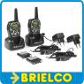 WALKIE TALKIE RECARGABLE PMR446 CON 99 CANALES 10KM MAX VOX BASE PAREJA BD9356 -
